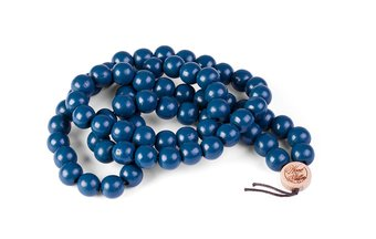 Deluxe Pearl Necklace (12mm) (wood) (blue)