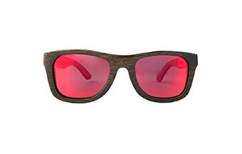 Sunglasses Jalo Mirror (wood) (brown/red)
