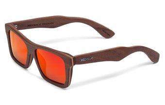 Viktualien Sunglasses (wood) (walnut/red)