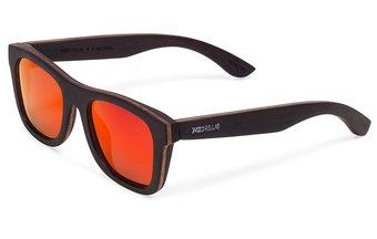 Holz-Sonnenbrille Stachus (wood) (ebony/red)