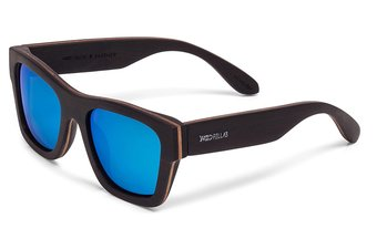 Säbener Sunglasses (wood) (ebony/blue)