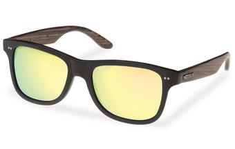 Holz-Acetat Sonnenbrille Lehel (wood-acetate) (black/gold)