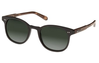 Schwabing Sunglasses (wood-acetate) (black/green)