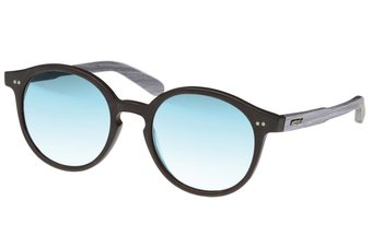 Solln Sunglasses (wood-acetate) (black/mirr. blue)