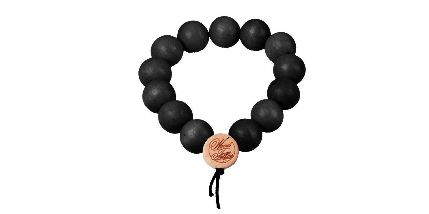 DLX Deluxe Pearl Bracelet (12mm) (wood) (black)