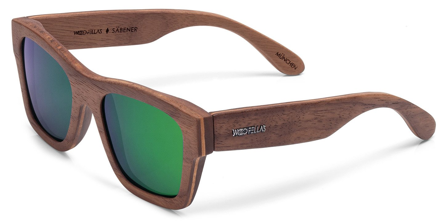 Säbener Sunglasses (wood) (walnut/green)