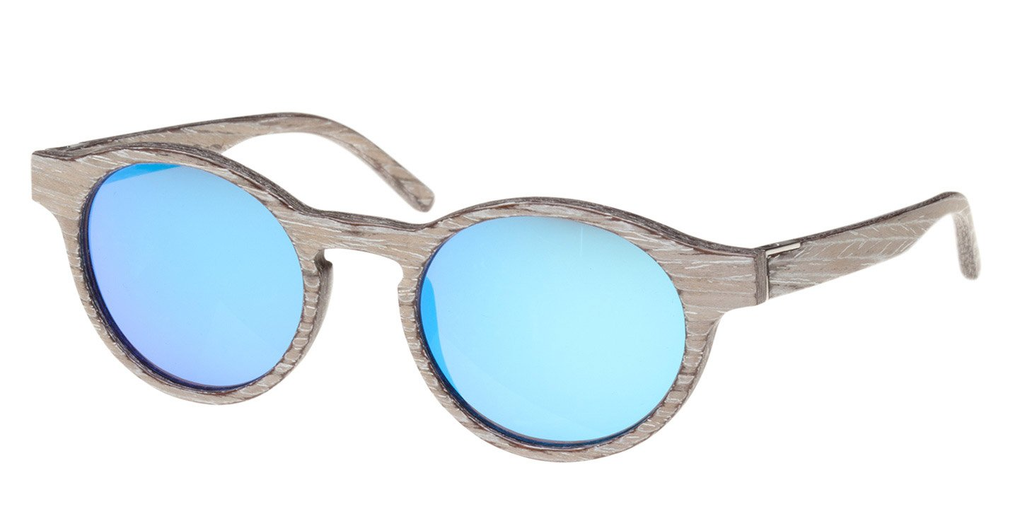 Flaucher Sunglasses (wood) (chalk oak/blue)