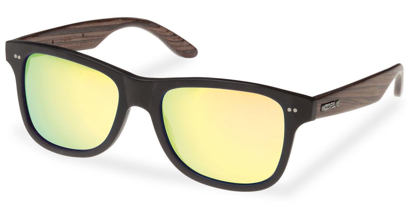 Lehel Sunglasses (wood-acetate) (black/gold)