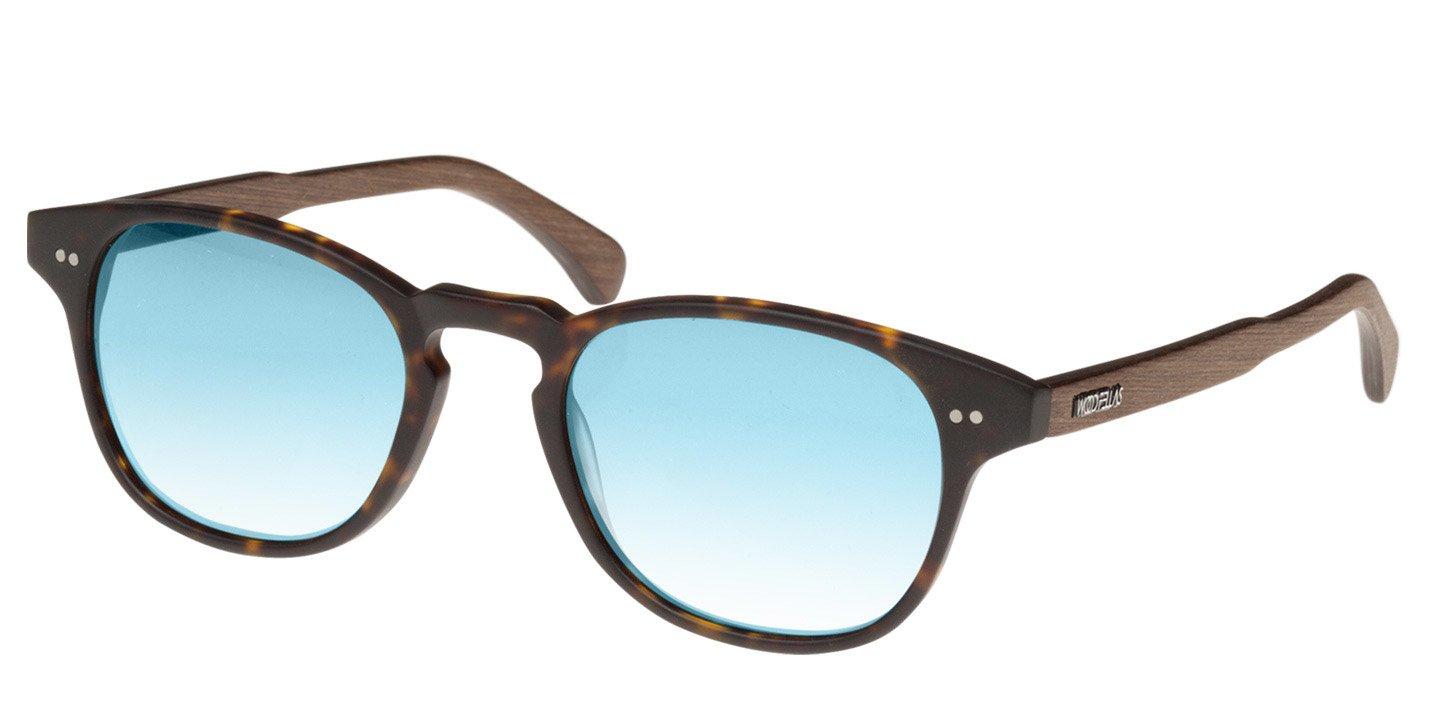 Haidhausen Sunglasses (wood-acetate) (havana/mirr. blue)