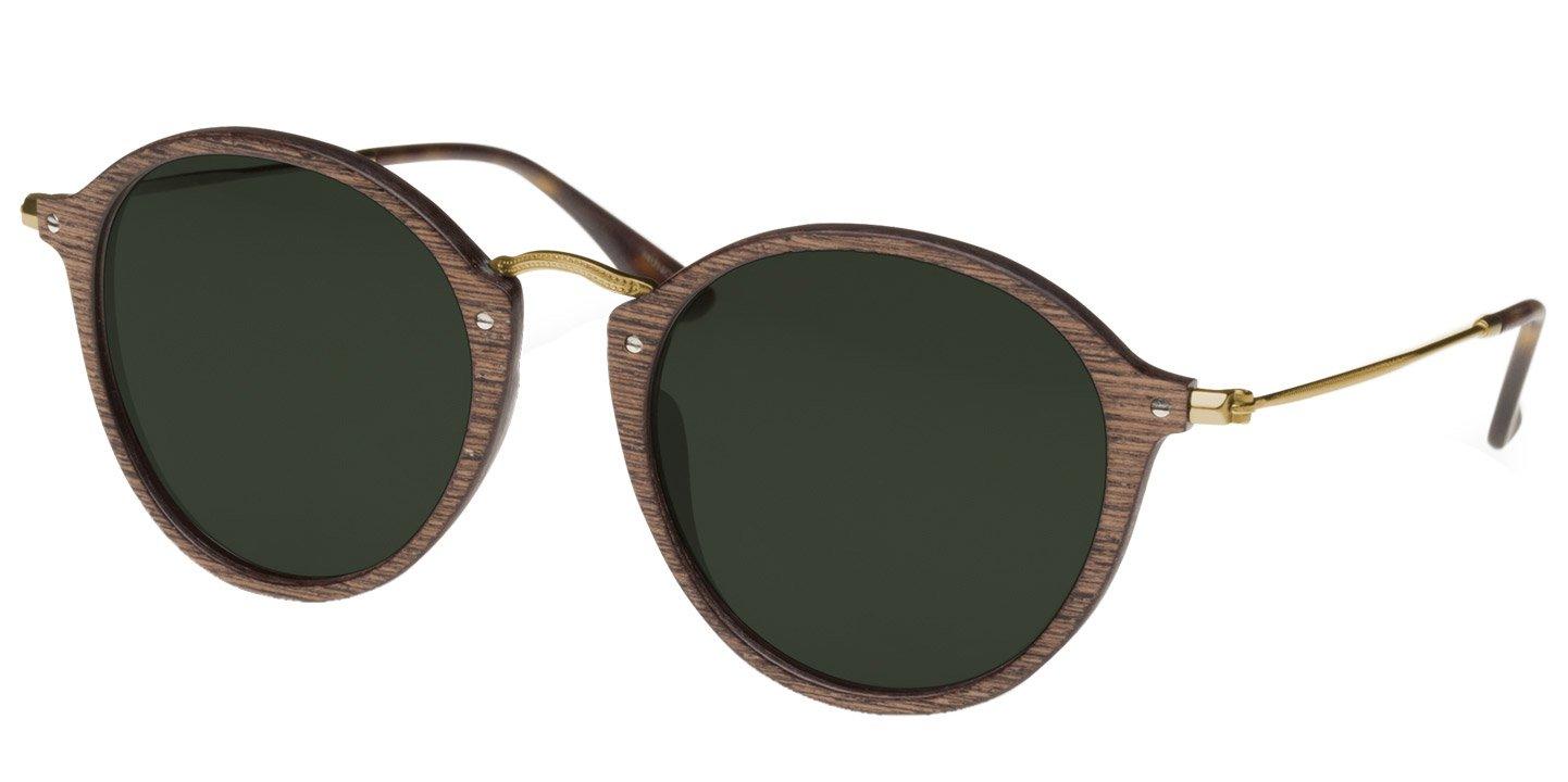 Nymphenburg Sunglasses (47-21-145) (wood) (walnut/green)