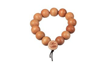 DLX Deluxe Pearl Bracelet (12mm) (wood) (natural)
