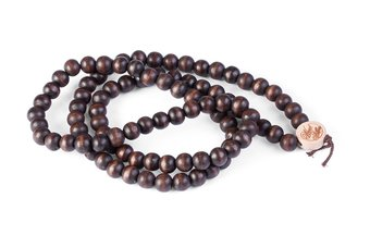 Deluxe Pearl Necklace (9mm) (wood) (brown)