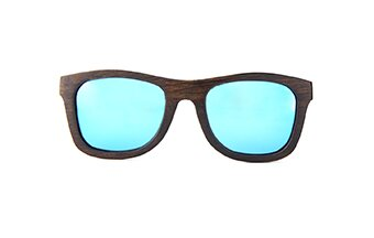 Sunglasses Jalo Mirror (wood) (brown/blue)