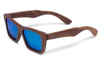 Viktualien Sunglasses (wood) (walnut/blue)
