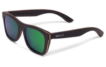 Stachus Sunglasses (wood) (ebony/green)