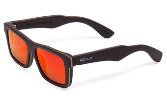 Viktualien Sunglasses (wood) (ebony/red)