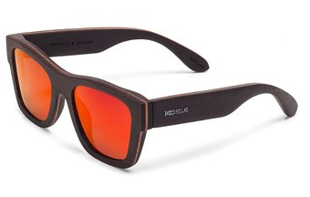 Säbener Sunglasses (wood) (ebony/red)