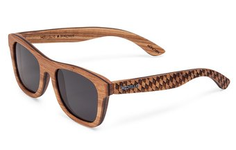 Stachus (SE) Sunglasses (wood) (zebrano/raute)