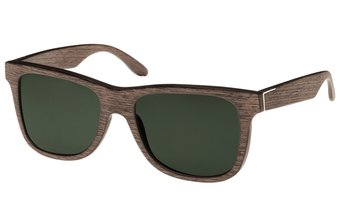 Prinzregenten Sunglasses (wood) (walnut/green)