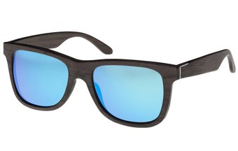 Prinzregenten Sunglasses (wood) (black oak/blue)