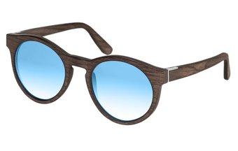 Au Sunglasses (wood) (black oak/blue)