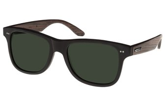 Lehel Sunglasses (wood-acetate) (black/green)