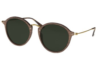 Nymphenburg Sunglasses (53-20-145) (wood) (walnut/green)