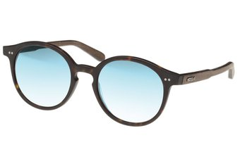 Solln Sunglasses (wood-acetate) (havana/mirr. blue)