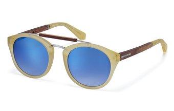 Auerburg Sunglasses (wood-acetate) (orange crystal/blue)
