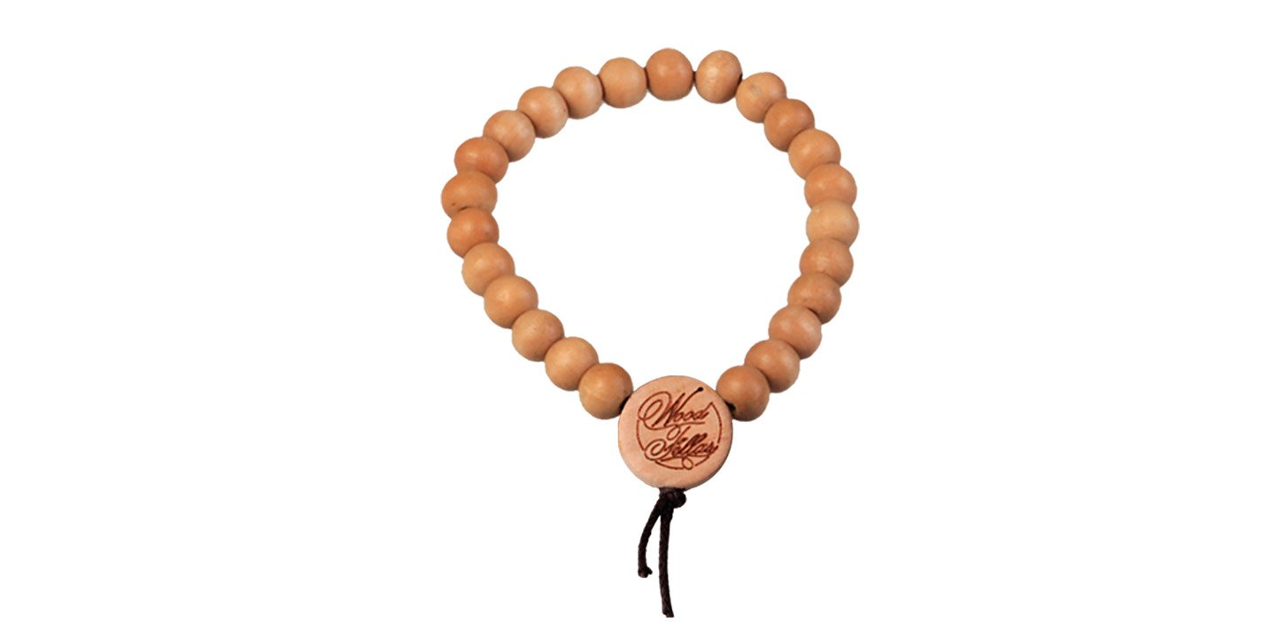 DLX Deluxe Pearl Bracelet (6mm) (wood) (wheat)