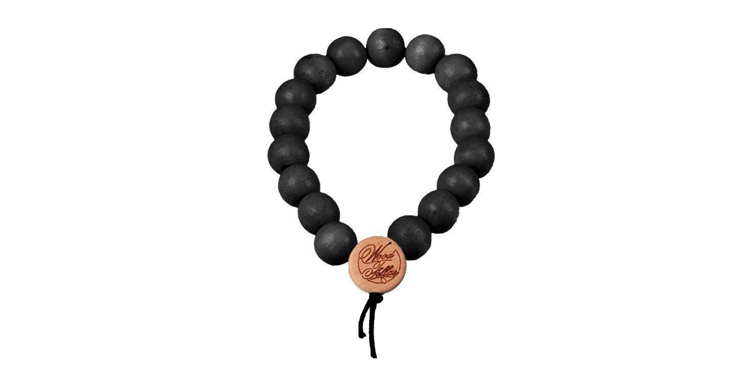 DLX Deluxe Pearl Bracelet (9mm) (wood) (black)