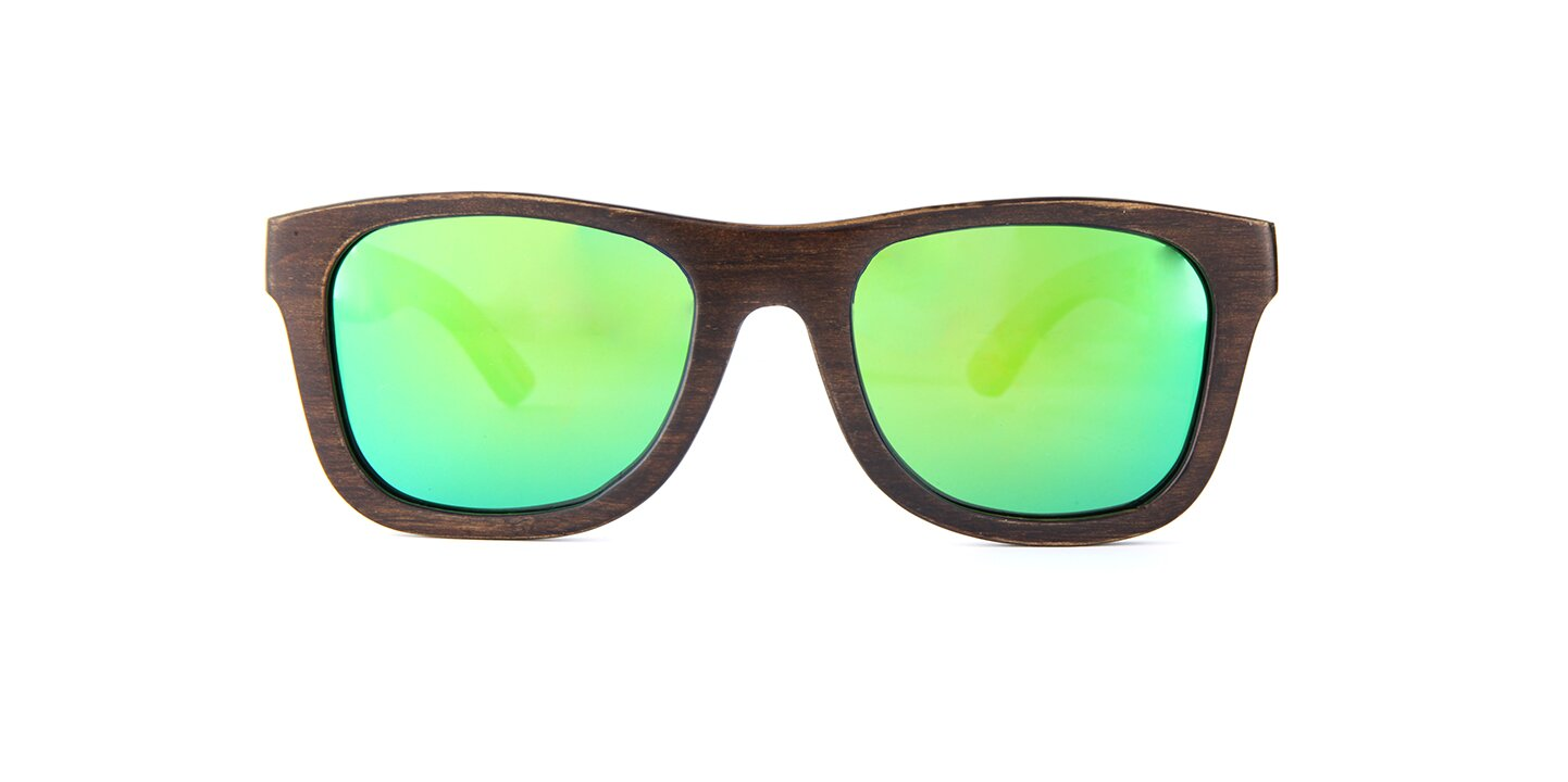 Sunglasses Jalo Mirror (wood) (brown/green)