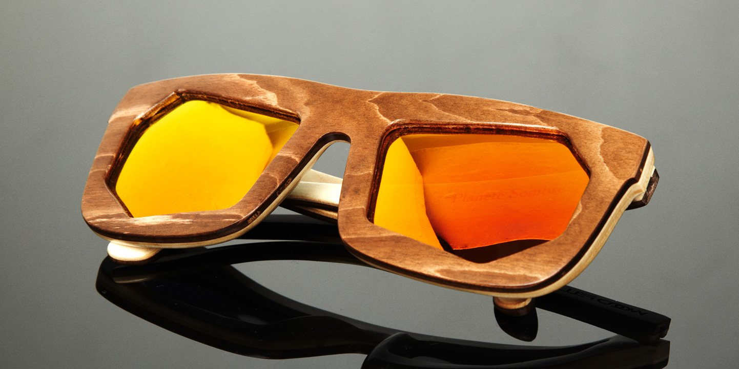 Sunglasses WF x Montaigne Street (wood) (brown/orange)