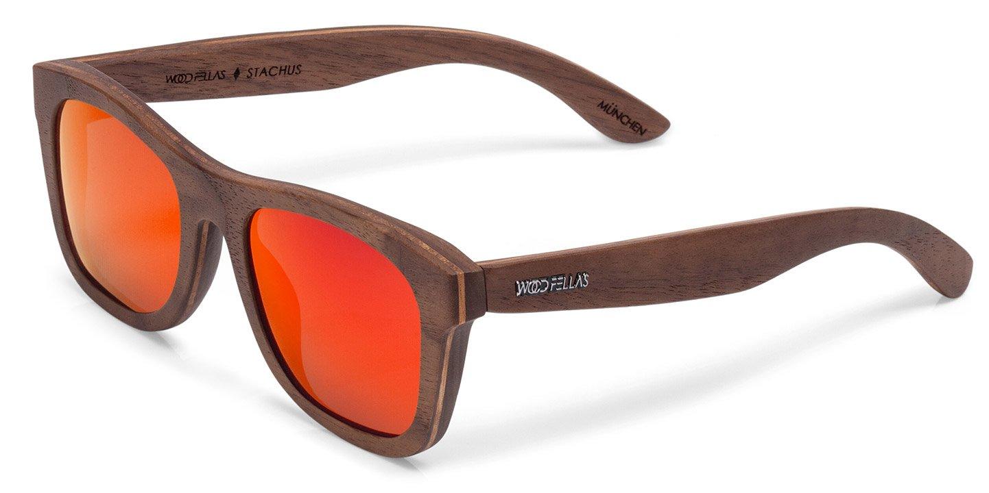 Stachus Sunglasses (wood) (walnut/red)