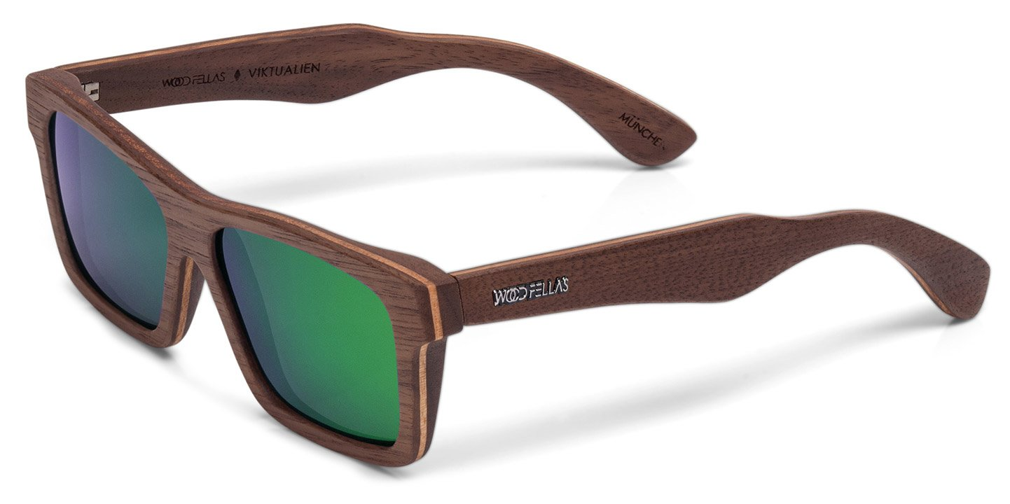 Viktualien Sunglasses (wood) (walnut/green)
