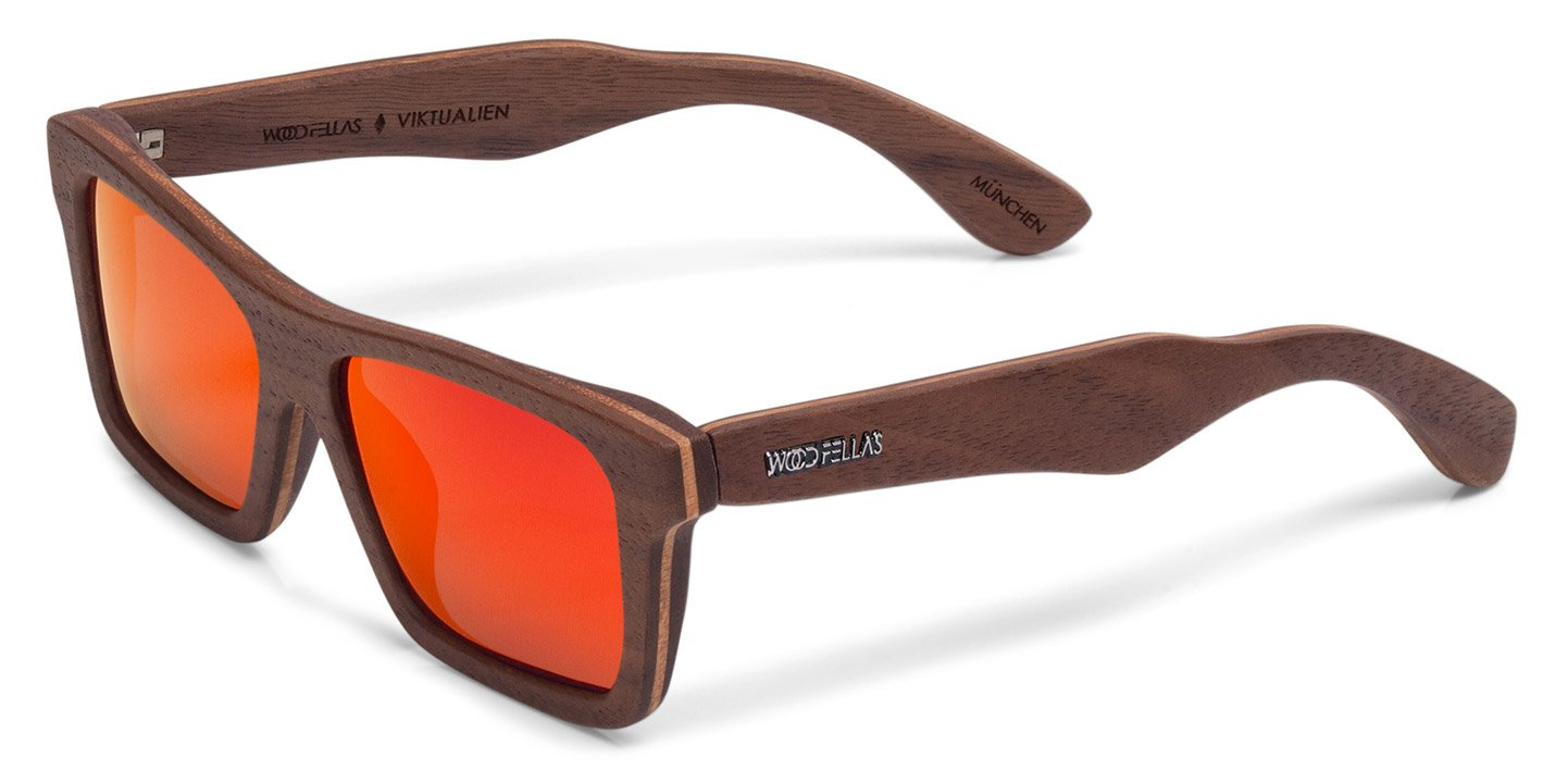 Viktualien Sunglasses (wood) (walnut/red)