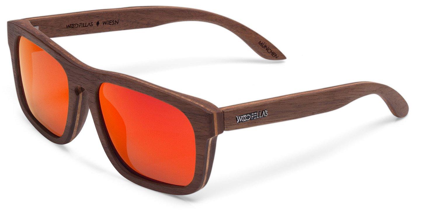 Wiesn Sunglasses (wood) (walnut/red)