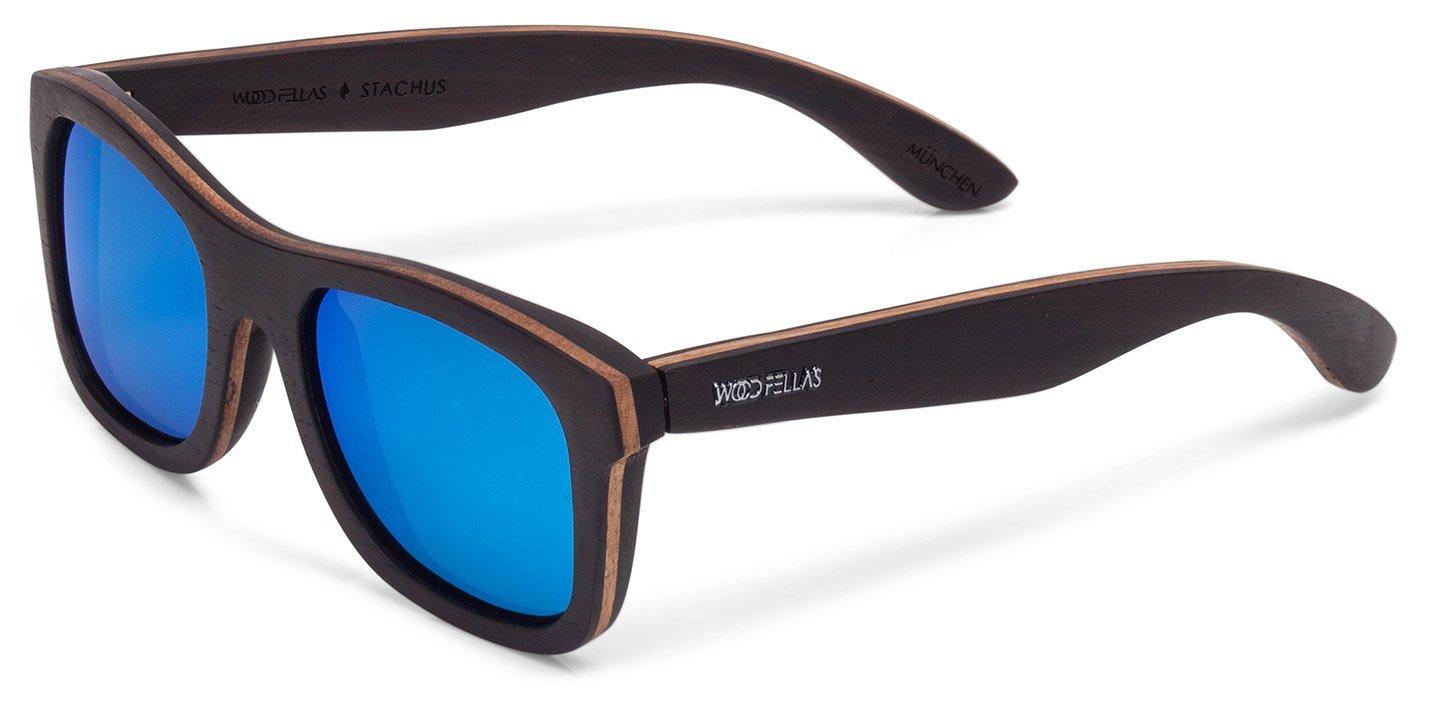 Stachus Sunglasses (wood) (ebony/blue)
