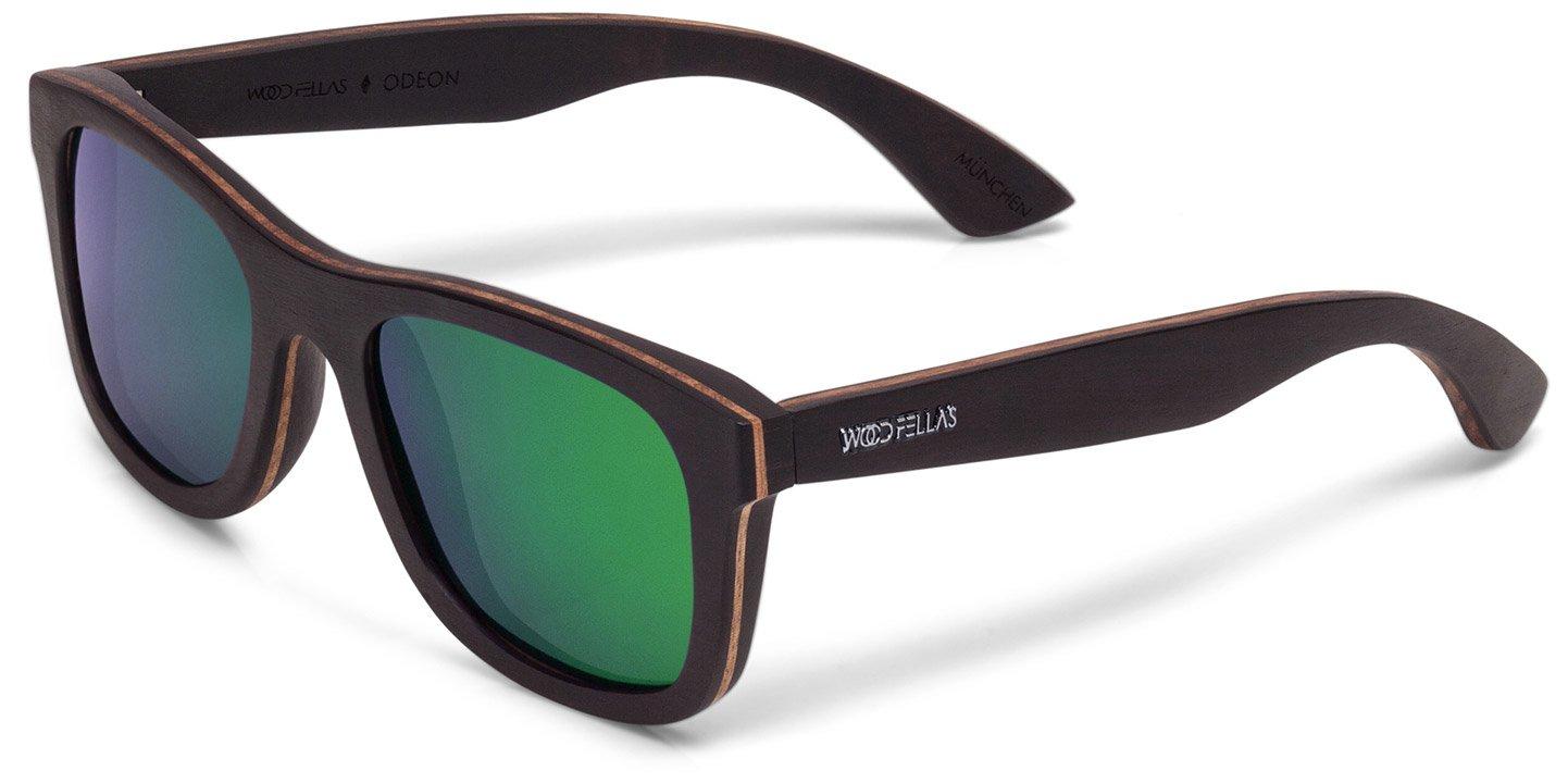 Odeon Sunglasses (wood) (ebony/green)