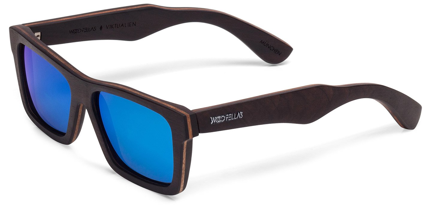 Viktualien Sunglasses (wood) (ebony/blue)