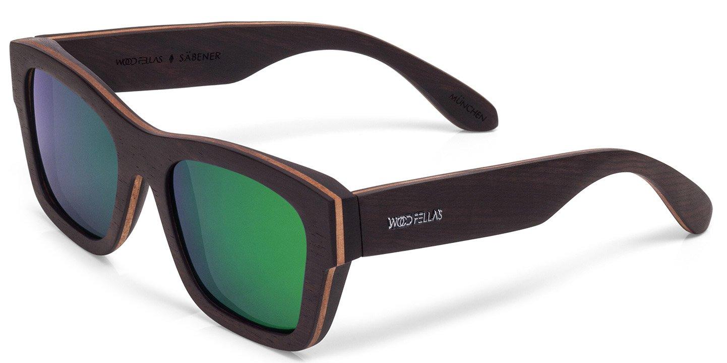 Säbener Sunglasses (wood) (ebony/green)