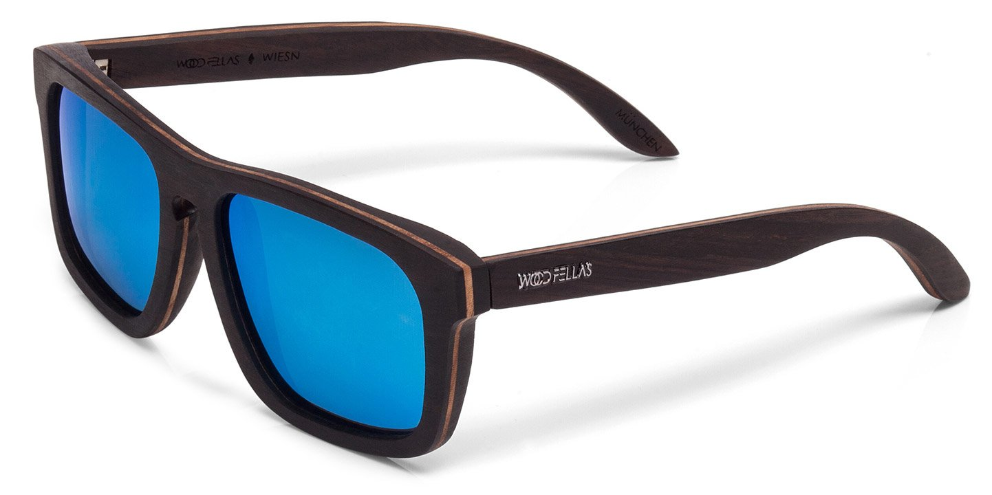 Wiesn Sunglasses (wood) (ebony/blue)