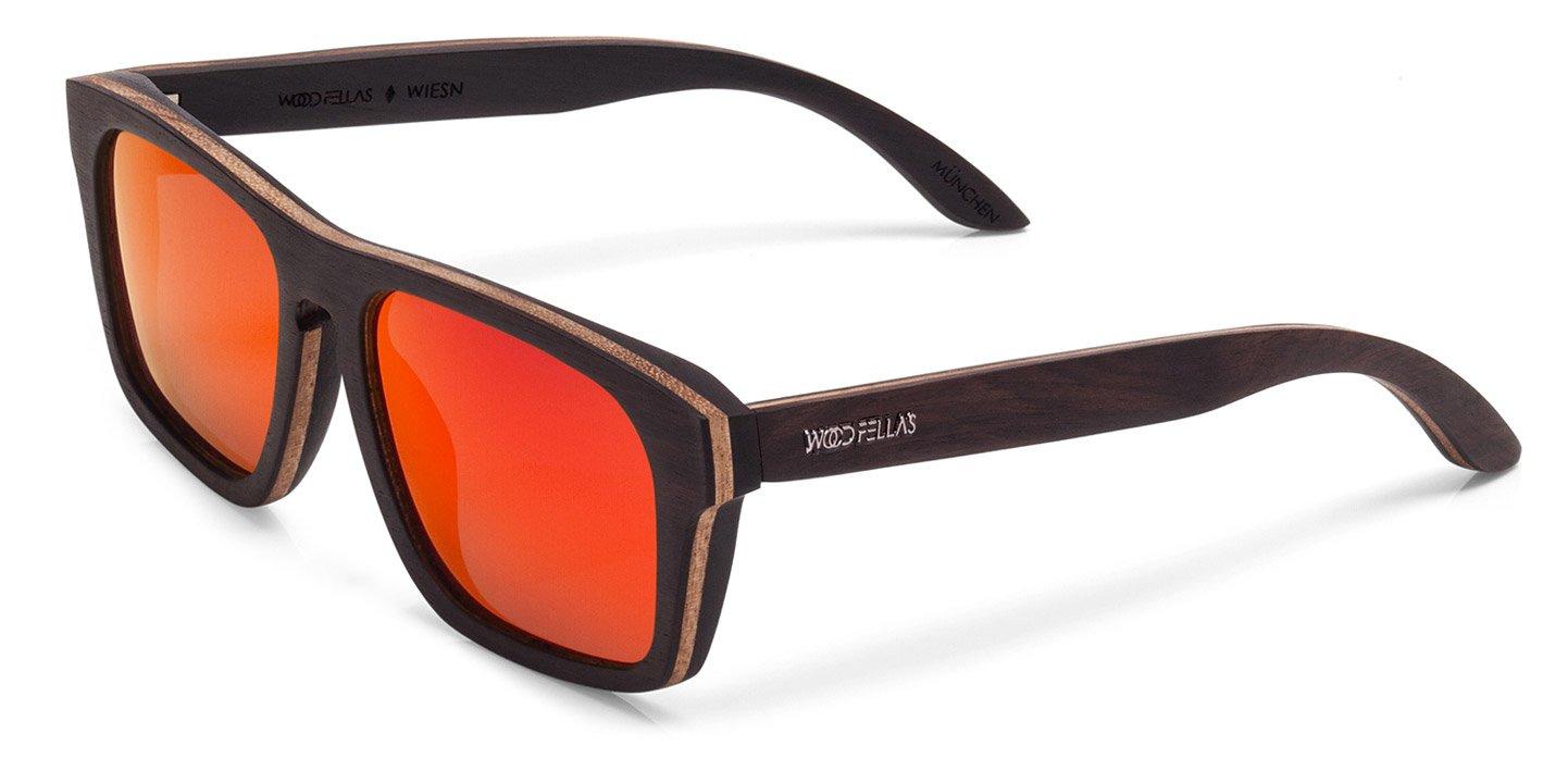Wiesn Sunglasses (wood) (ebony/red)