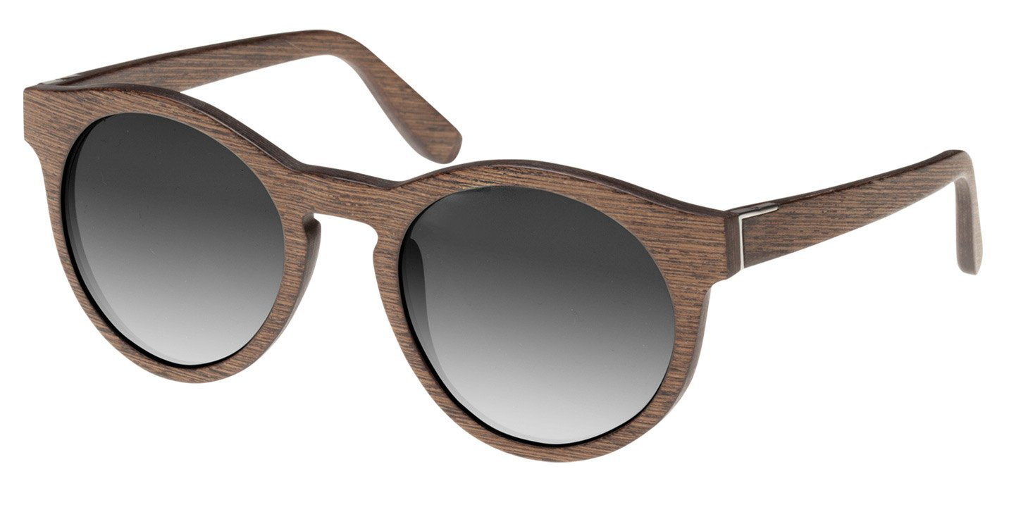 Au Sunglasses (wood) (walnut/grey)