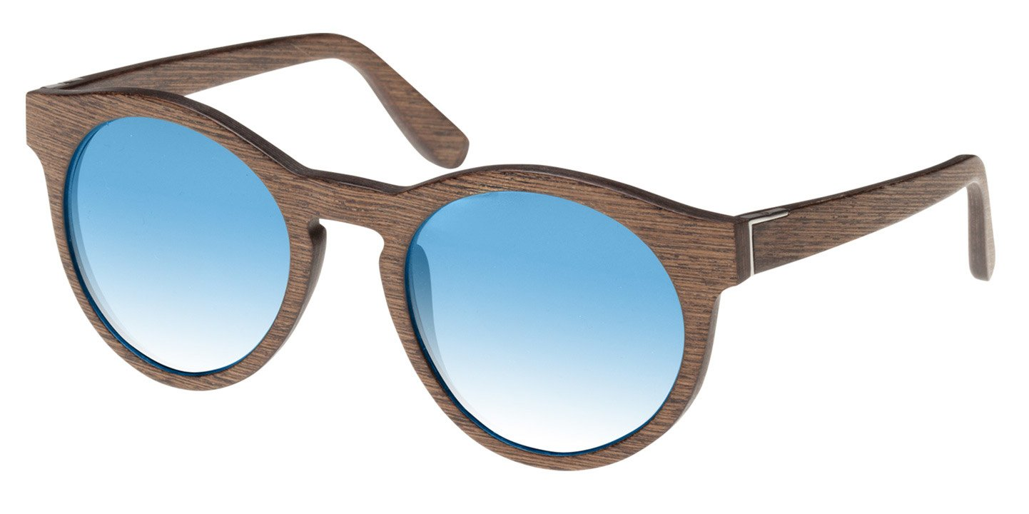 Au Sunglasses (wood) (walnut/blue)