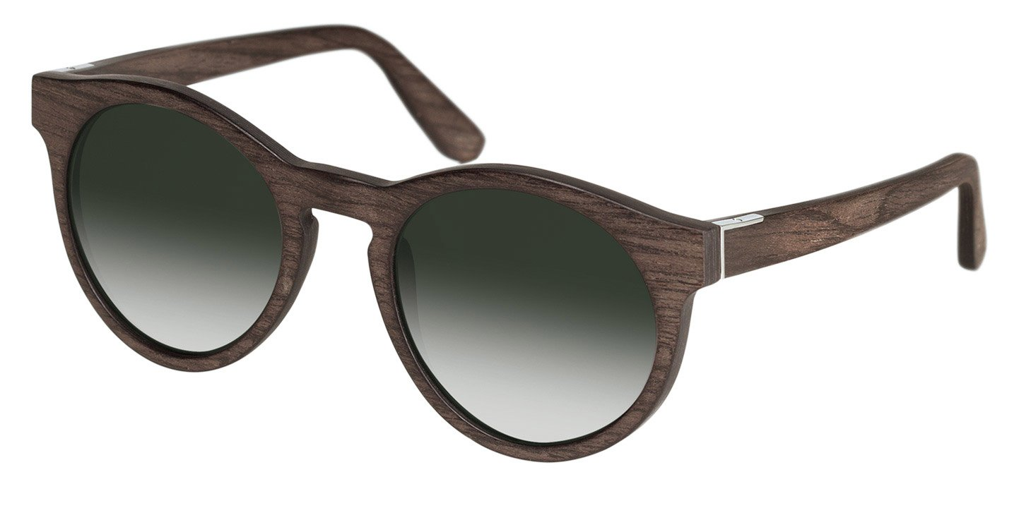 Au Sunglasses (wood) (black oak/green)