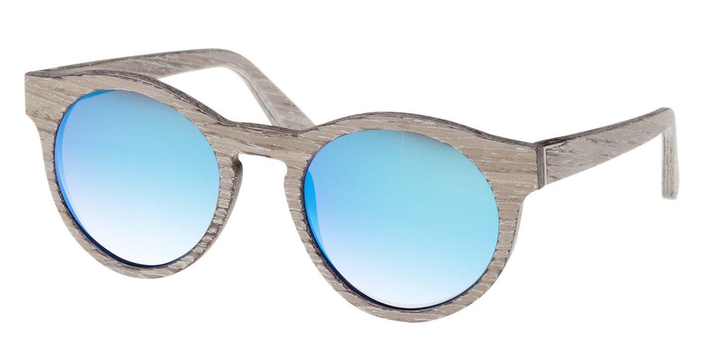 Au Sunglasses (wood) (chalk oak/blue)