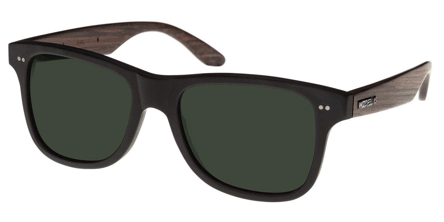 Lehel Sunglasses (wood-acetate) (black/green)