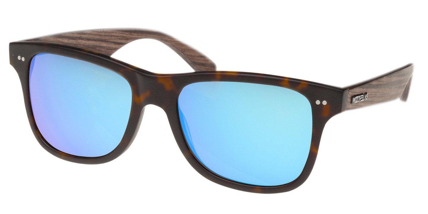 Lehel Sunglasses (wood-acetate) (havanna/blue)