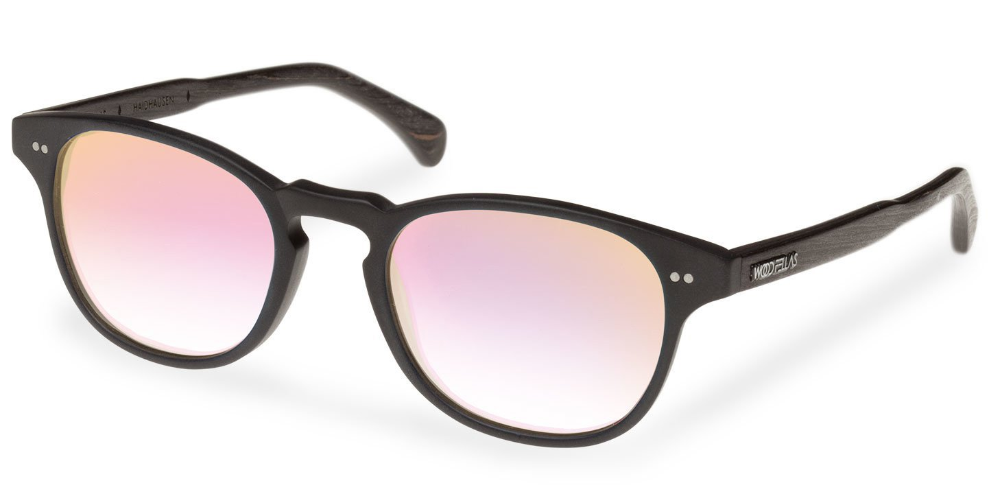 Haidhausen Sunglasses (wood-acetate) (black/rosé)